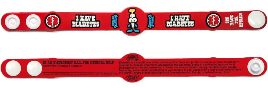 Beware Bandits Diabetes Alert Bracelet